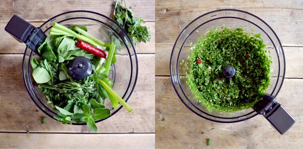 Ingredienten voor quinoa salade