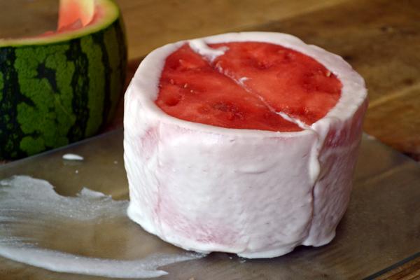 watermeloentaart met kokosroom