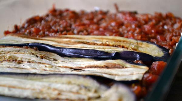 lasagne gehakt aubergines