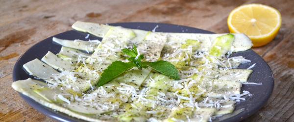 vegetarisch voorgerecht courgette carpaccio