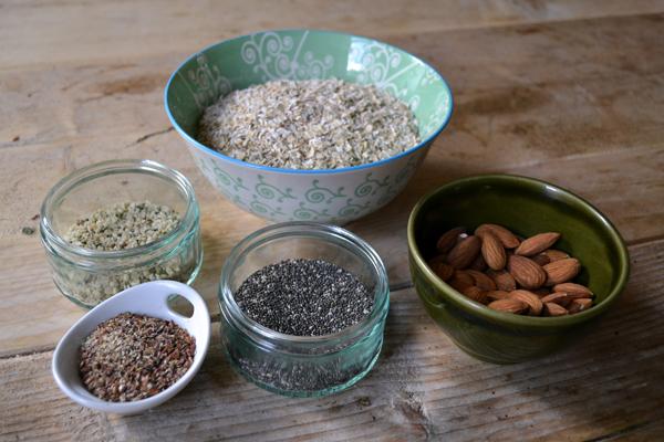ingredienten voor ontbijtreep