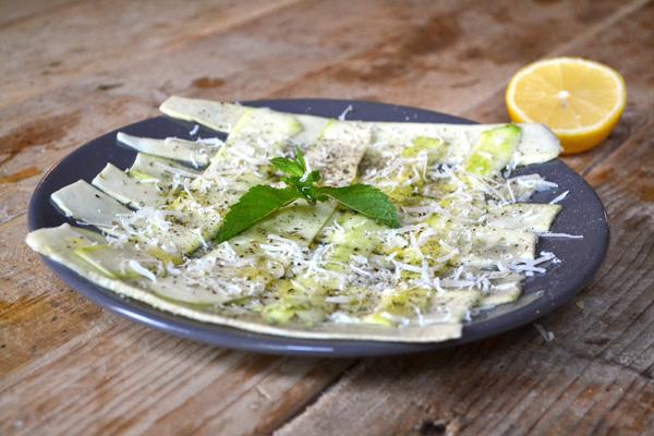 courgette carpaccio vegetarisch voorgerecht