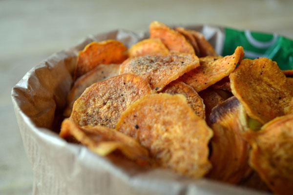 gezonde chips recept