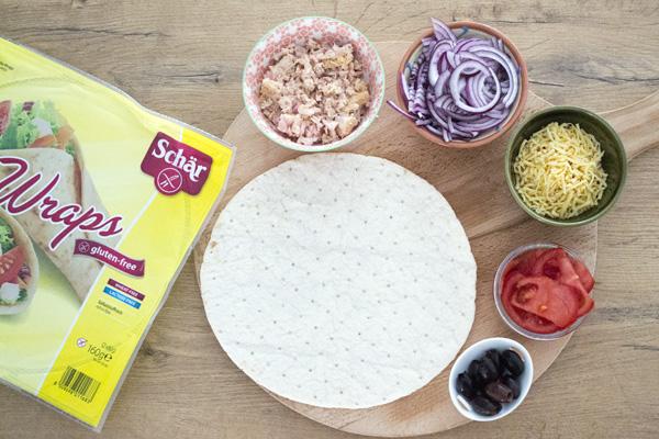 gezonde pizza tonijn schar wrap