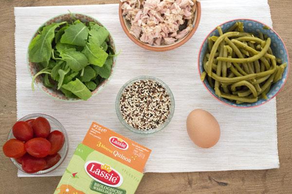 recept nicoise salade quinoa lassi