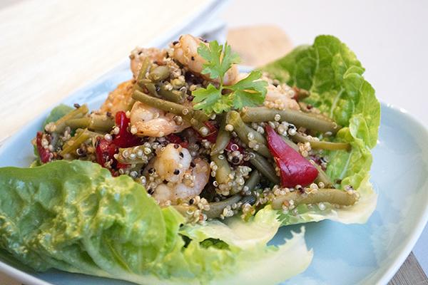quinoa gamba boontjes recept
