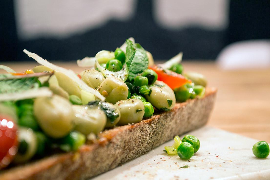 bonen op toast recept