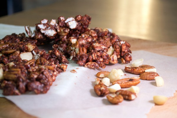 crunchy chocolate nuts