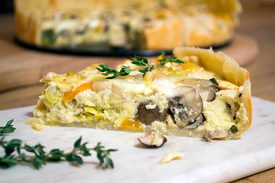 prei quiche recept