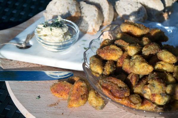 glutenvrije gepaneerde mosselen