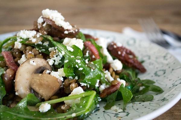 recept champignon salade