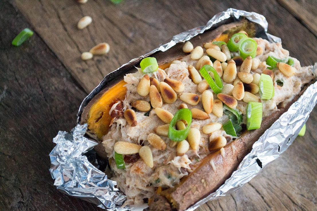 zoete aardappel makreel recept