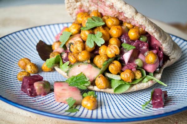 shoarma kikkererwten veganistisch recept