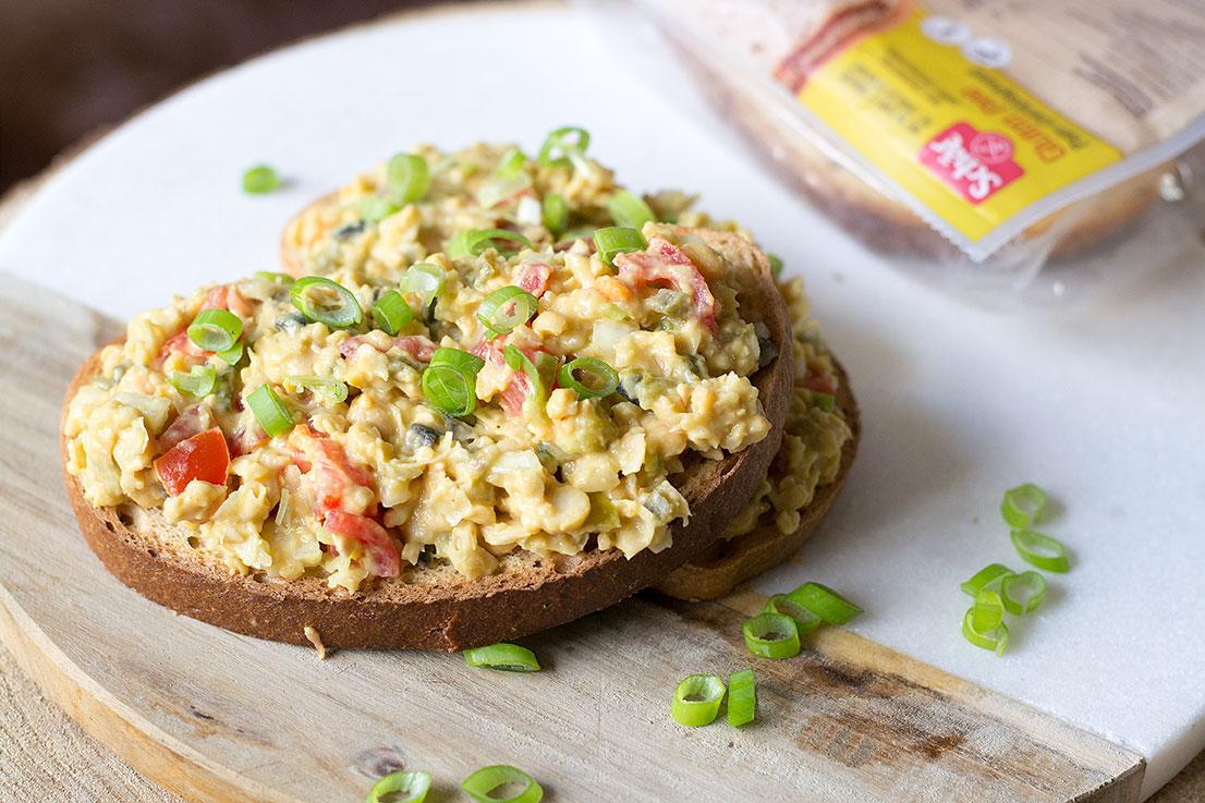 tonijn salade vegan sandwich